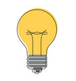 light bulb icon in watercolor silhouette vector image vector image