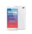 modern white smartphone isolated front and back vector image vector image