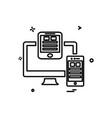 Monitor icon design