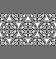 mosaic classic black and white seamless vector image vector image