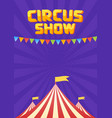 moucup circus poster vector image