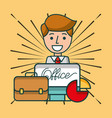 office supplies and people vector image vector image