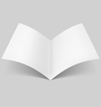 Open blank book vector image vector image