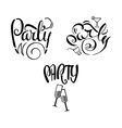 Party Labels Doodle-01 vector image