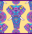 pattern with mandala and elephant geometric vector image vector image