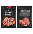 posters for butchery shop meat products vector image vector image