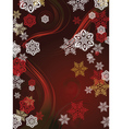 Red Background with Snowflakes3 vector image vector image