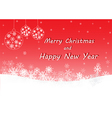 Red merry Christmas and happy new year vector image vector image
