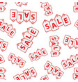 sale hanging price tag seamless pattern vector image