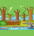 scene with many crocodile in forest vector image vector image