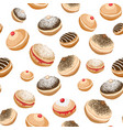 seamless background with sweet donuts vector image