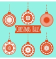 Set of different christmas balls The Pattern for vector image