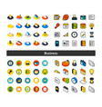 set of icons in different style - isometric flat vector image vector image