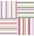 striped seamless abstract pattern template vector image vector image