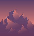 Stylized Image of Mountains at Sunrise vector image
