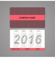 template design pocket calendar 2016 with place vector image vector image