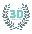 Template Logo 30 Anniversary in Laurel Wreath vector image vector image