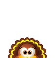 thanksgiving turkey on white background vector image vector image