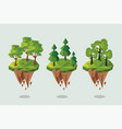 three forest lowpoly vector image vector image
