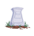 tombstone with rip abbreviation upright vector image vector image
