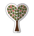 tree plant with heart ecological icon vector image vector image