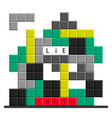 trugh or lie puzzle crossword vector image vector image