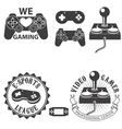 video gamer vector image
