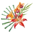 watercolor lilies vector image vector image