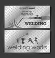 welding business card for welders vector image vector image