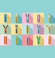 zipper icon set flat style vector image