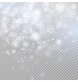 Bokeh light gray sparkles on transparency vector image