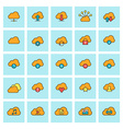 Cloud computing icon set in flat design style For vector image