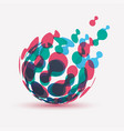 abstract globe symbol isolated icon internet vector image vector image