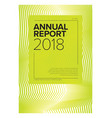 annual report cover template vector image vector image