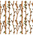 apple tree sketch pattern 1 vector image vector image