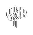 artificial intelligence ai icon ai brain concept vector image