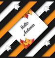 autumn fall striped banner