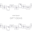 banners with thin line icons of gift boxes vector image vector image