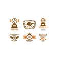 baseball logo set retro emblem for vector image vector image