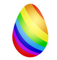 beautiful easter eggs with bright striped vector image