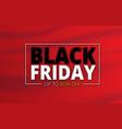 black friday waving red flag banner sale vector image vector image