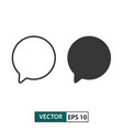 blank comment icon set isolated on white eps 10 vector image vector image