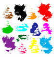 Bright multicolored grunge watercolor circles vector image