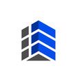 building up arrow logo icon vector image vector image