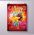 casino night flyer vector image vector image
