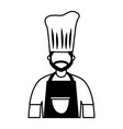 chief cooking male character professional vector image vector image