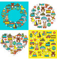 childish toys childhood kindergarten playing game vector image