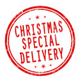 christmas special delivery sign or stamp vector image