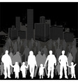 collect family silhouettes vector image
