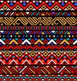 Colorful red ethnic geometric striped aztec vector image vector image